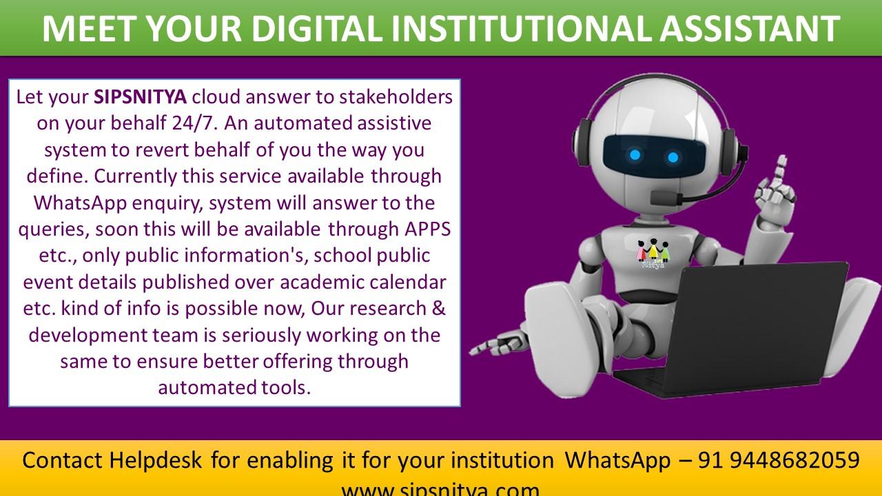 Meet your Digital Institutional Assistant