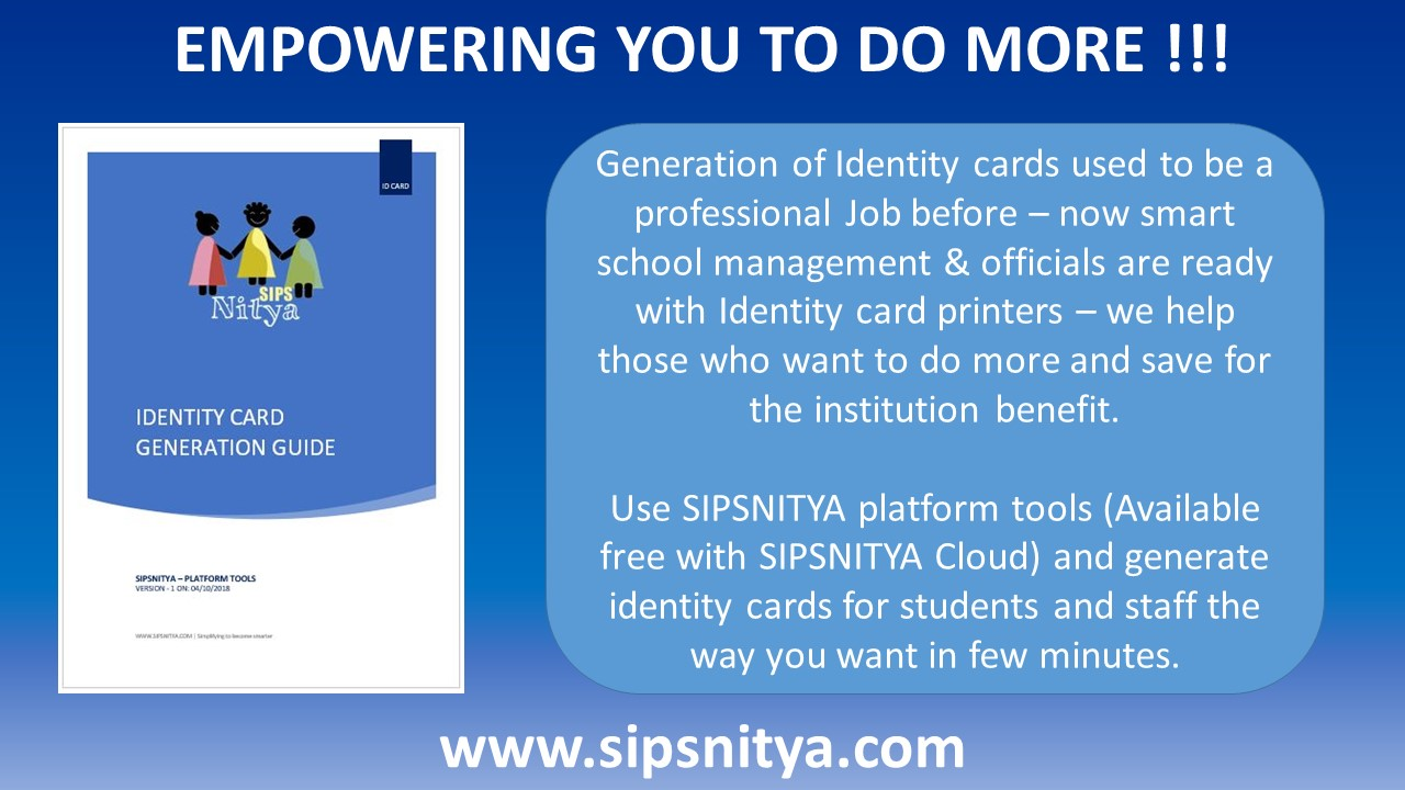 Now Generate Identity Cards