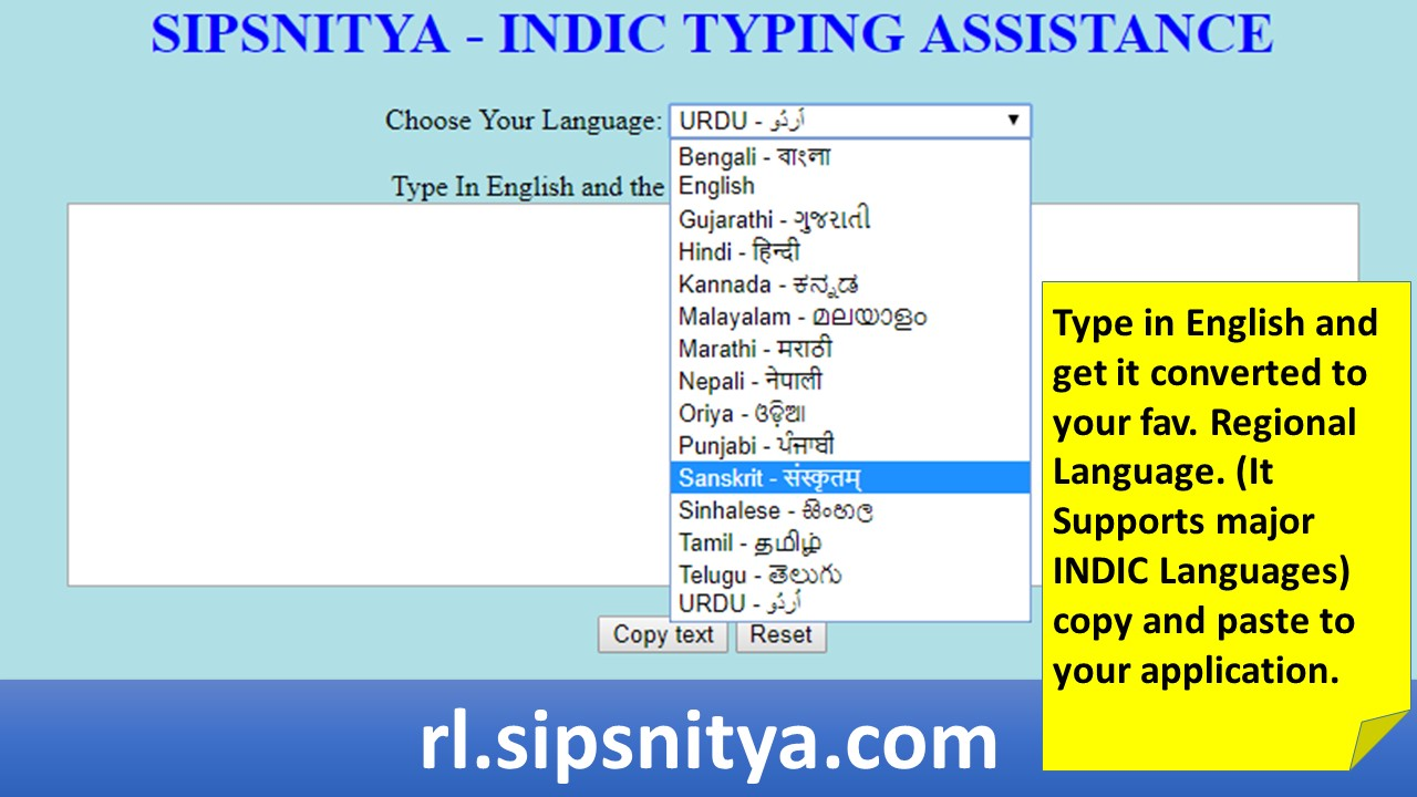 INDIC Language Typing Assistance