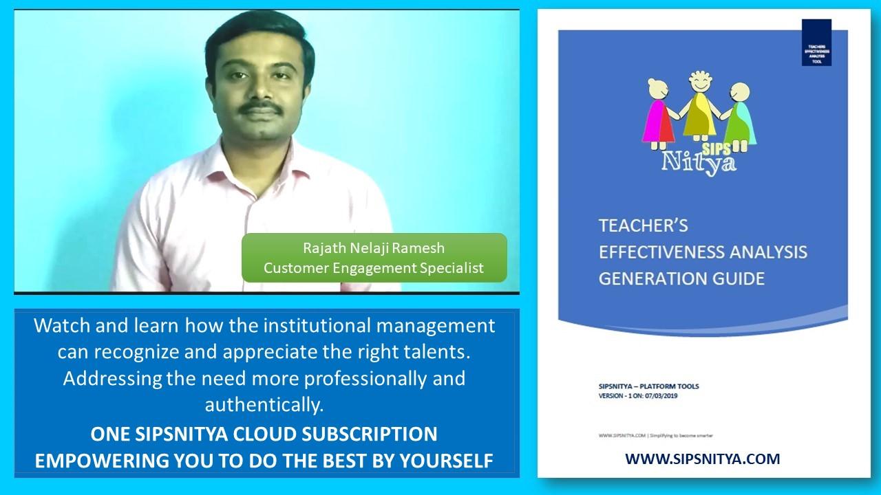 Teachers Effectiveness Analysis