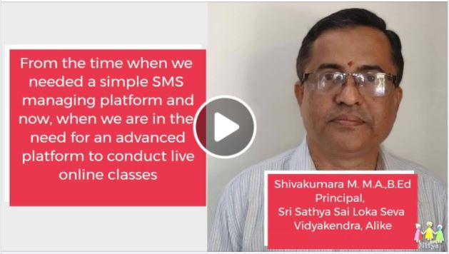 Mr. Shivakumara M, Principal Sri Sathya Sai Loka Seva Vidyakendra, Alike, D.K